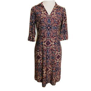 Jude Connally Dress Womens Small Paisley Sheath St